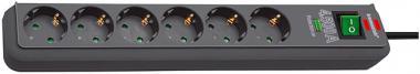 6-fach Überspannungsschutz-Steckdosenleiste Eco-Line 13.500A