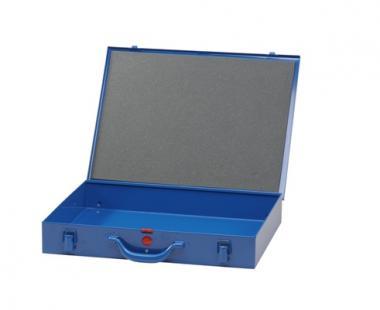Kleinteile-Koffer aus Metall ohne Einsatzboxen, blau