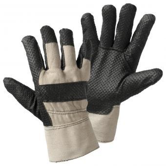 1411 PVC-Noppen Handschuh, schwarz