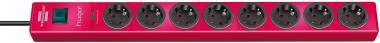 hugo! 19.500A Überspannungsschutz -Steckdosenleiste 8-fach in 8 Farben