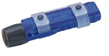 Tauchlampe UK Mini Q40 eLED® Plus mit Maskstrap, blau