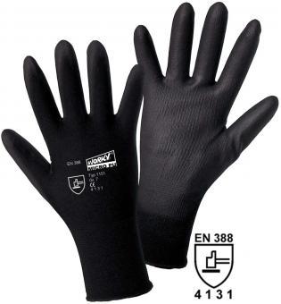 1151 MICRO black Nylon-PU Feinstrickhandschuh (12 Paar) Gr. 7