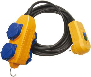 Schutzadapterleitung FI IP 44 mit Powerblock 5m