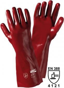 1482 PVC-Handschuh, 40cm, rotbraun (12 Paar)