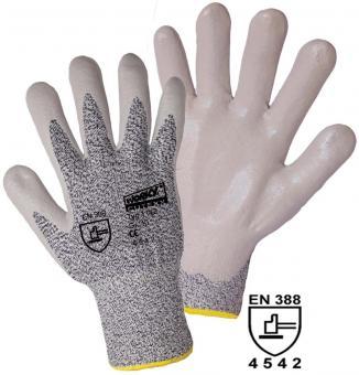 Schnittschutzhandschuh CUTEXX HPPE/Elasthan mit Glasfaser mit Nitril-Beschichtung