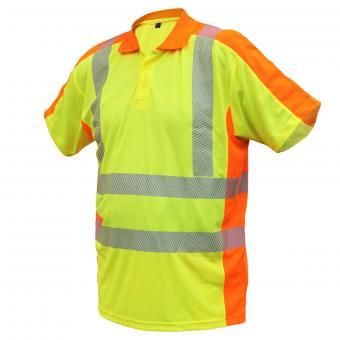 ELDEE YO-HiViz Polo-Shirt, modern, funktionell, schnelltrocknend, Gr. S - XXXL