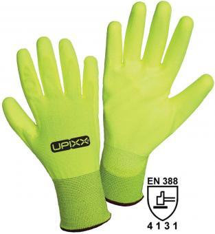 1153 Neon PU Nylon-Strickhandschuh mit PU-Beschichtung