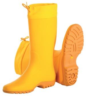 Damen Gummistiefel, gelb