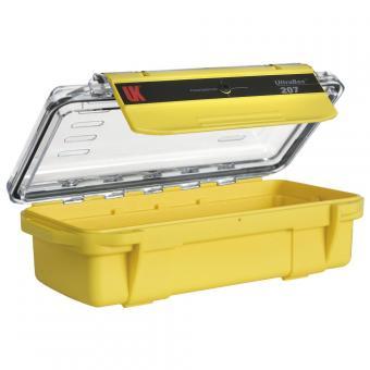 Wasserdichte UK UltraBox 207, gelb, mit Klarsichtdeckel