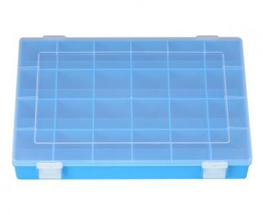 Sortimentskasten PP, 24 Fächer, blau, 225 mm x 335 mm x 55 mm