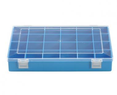 Sortimentskasten PS, 24 Fächer, blau, 225 mm x 335 mm x 55 mm