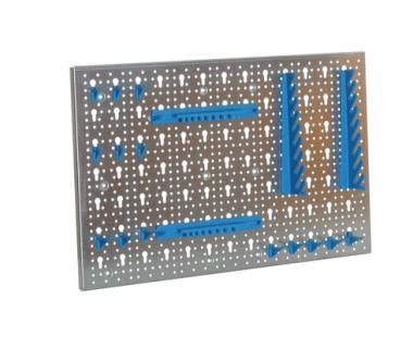 Metall-Lochwand-Set mit 24 Haken und 2 Kunststoffhalterungen