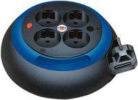Comfort Line Kabelbox CL-S 4-fach, schwarz/blau 3m H05VV-F 3G1,5