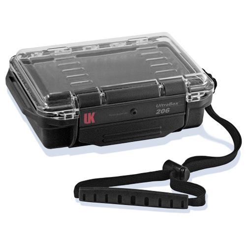 Wasserdichte UK UltraBox 206, schwarz, mit Klarsichtdeckel,
