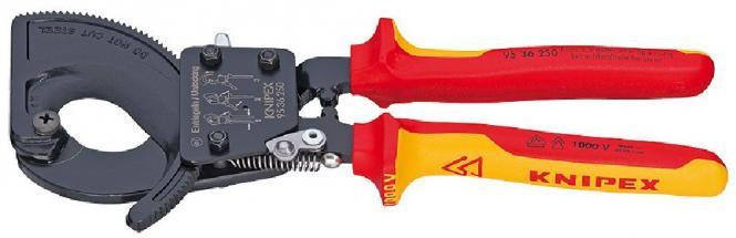 Knipex Kabelschneider 95 36 250, Ratschenprinzip 250mm
