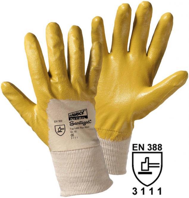 12 Paar Flex-Nitril Handschuhe , gelb