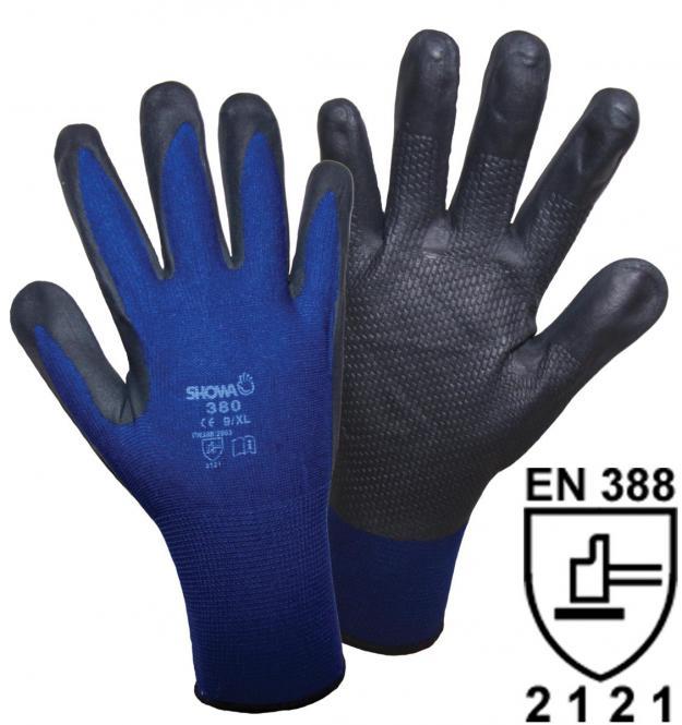 1163 SHOWA 380 NBR Foam Grip Strickhandschuh (1 Paar)