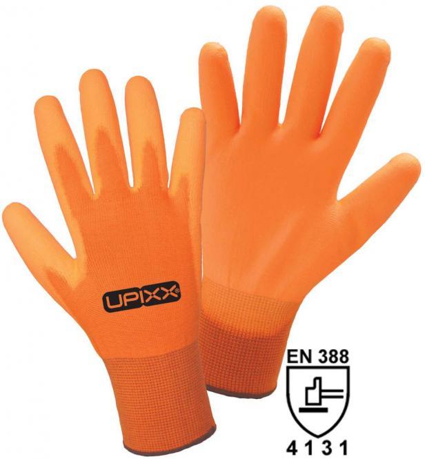 Neon PU Nylon-Strickhandschhuh mit PU-Beschichtung (6Paar)