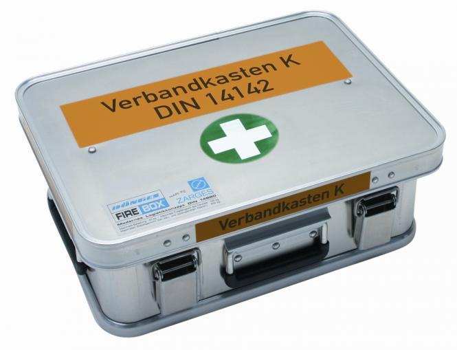 Feuerwehr-Verbandkasten DIN 14142 in Dönges FireBox