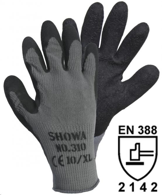 14905 SHOWA 310 Grip Black Strickhandschuh (1 Paar)