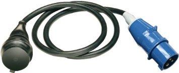 Adapter Leitung IP 44 1,5 m H07RN-F 3G1,5 schwarz CEE-Stecker 230 V/16 A