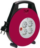Vario Line Kabelbox 4-fach schwarz/bordeaux/lichtgrau 10m H05VV-F 3G1,5