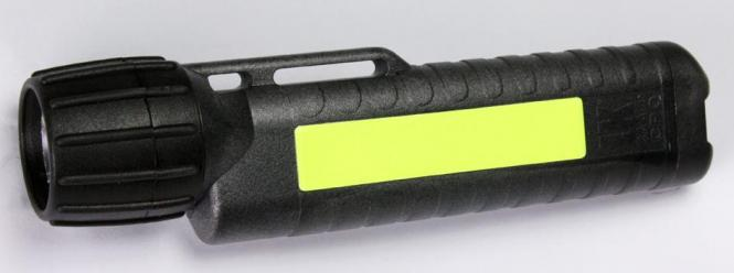Helmlampe UK 4AA eLED® CPO TS, schwarz mit Leuchtstreifen