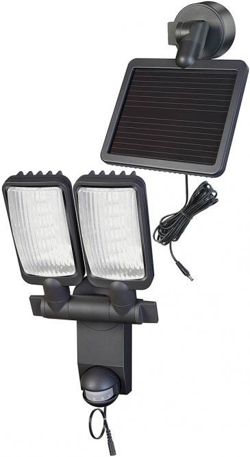 Solar LED-Leuchte Duo Premium SOL LV1205 P2 IP44 mit Infrarot-Bewegungsmelder 12xLED 0,5W, 480lm, Kabellänge 4,75m, anthrazit