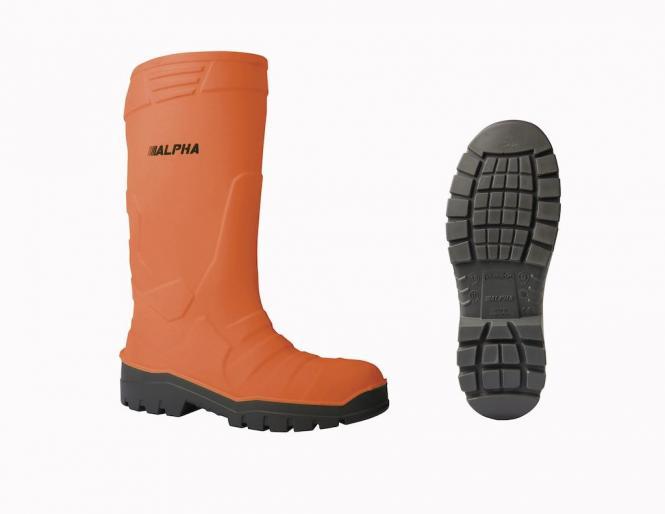 DIKAMAR PU-Thermo-Sicherheitsstiefel S5 ALPHA FLUORESCENT orange