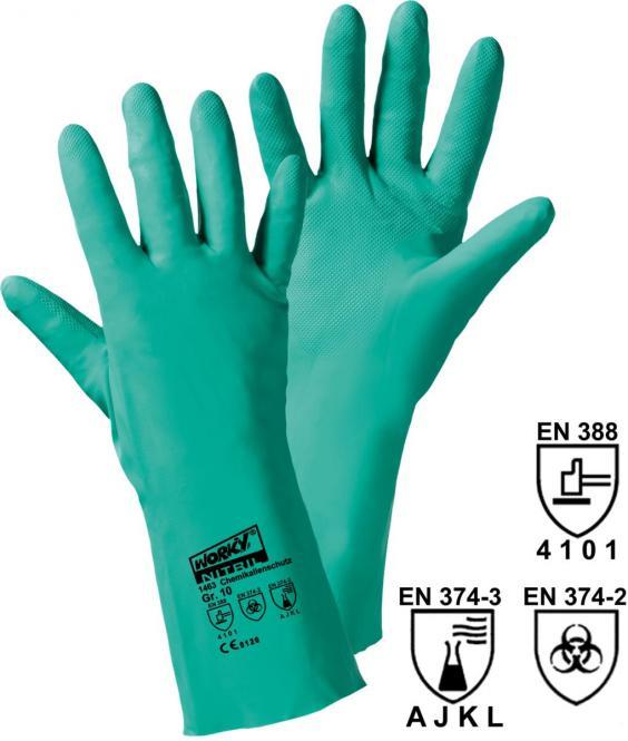 12 Paar Chemikalienhandschuhe