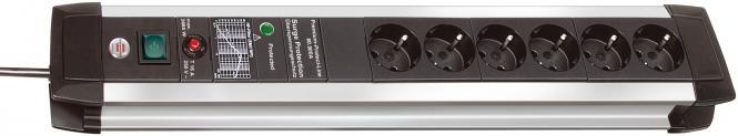 Premium-Protect-Line 60.000A Überspannungsschutz-Steckdosenleiste 6-fach 3m