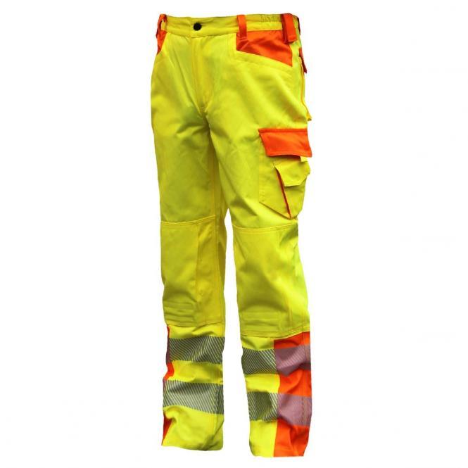 NEU! ELDEE YO-HiViz Bundhose, Warnschutzhose,  gelb/orange mit Reflexsteifen, Gr. 48 - 62