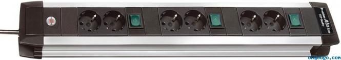 Steckdosenleiste Premium-Alu-Line Technik (3x2)