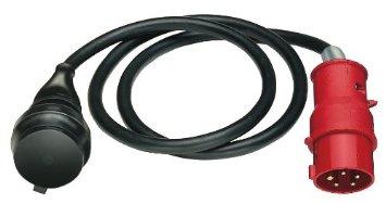 Adapter Leitung IP 44 1,5 m H07RN-F 3G1,5 schwarz CEE-Stecker 400 V/16 A