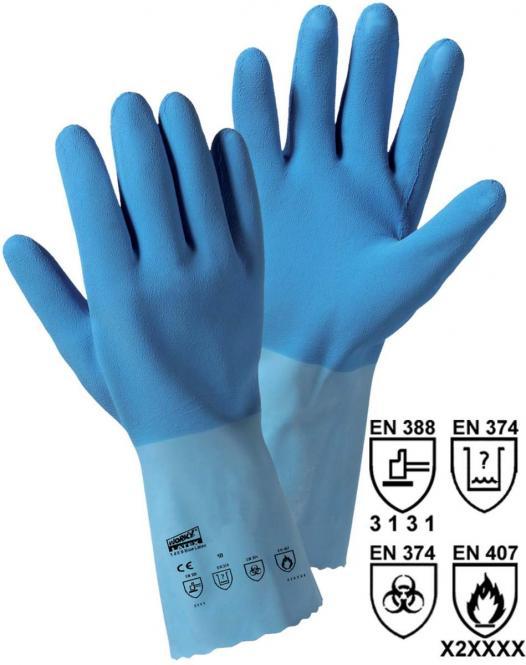 1489 12 Paar Blue-Latex Naturlatex-Handschuhe