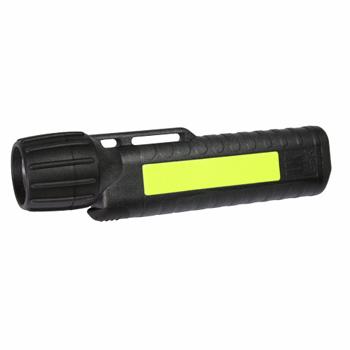 Helmlampe UK 4AA eLED® CPO ES, schwarz mit Leuchtstreifen