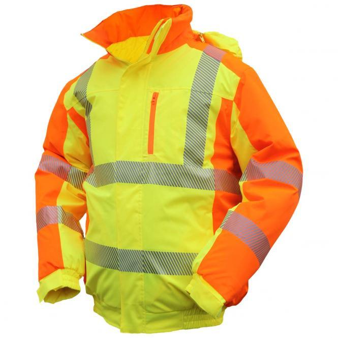 ELDEE YO-HiViz Pilotenjacke 4710, Warnschutzjacke, gelb/orange, mit Wattierung, Gr. S - XXXL