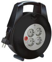 Vario Line Kabelbox 4-fach schwarz/lichtgrau 15m H05VV-F 3G1,5