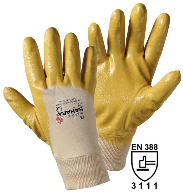 12 Paar Original Sahara, gelb Nitrilkautschuk-Handschuhe