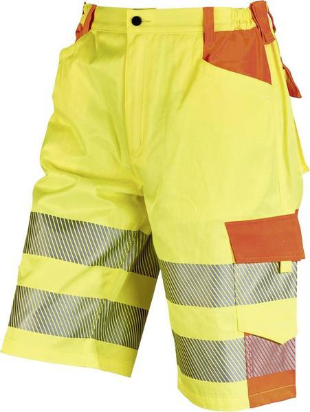 ELDEE YO-HiViz Bermuda, Arbeitsshorts 4780, gelb/orange, mit Reflexstreifen, Gr. 48 - 62