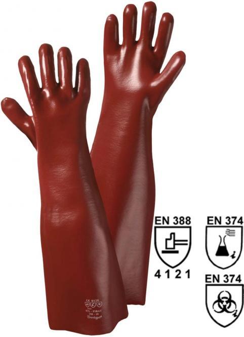 1443 Vinyl-Handschuh, rotbraun