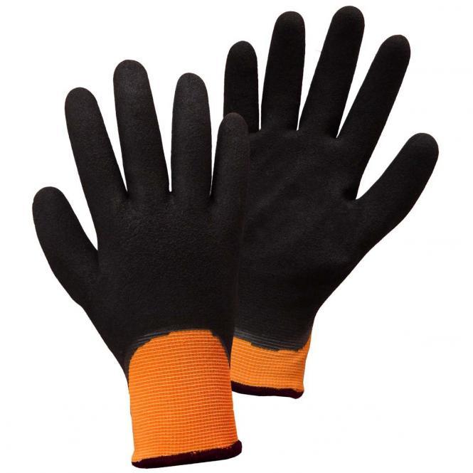 Worky FREEZER-GRIP Winterhandschuh, leuchtorange, Gr. 8 + 10, komplett getauchte Nitrilbeschichtung