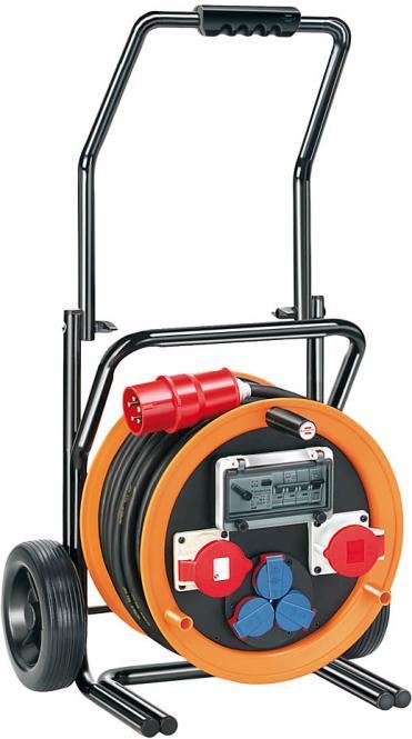 Brobusta® CEE 2 FI IP 44 Industrie und Baustellentrommel mit Wagen