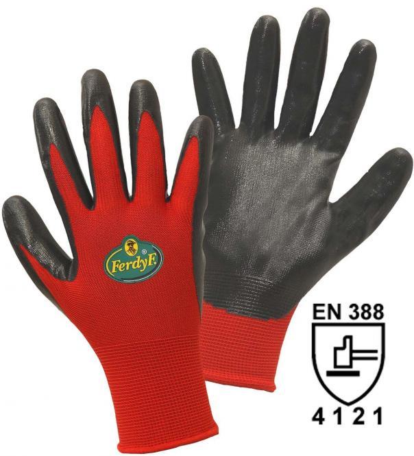 FerdyF. 11561 Feinstrickhandschuh Dynamic Polyester mit Nitrilbeschichtung, Damen- und Herrengröße Herrengröße | 12