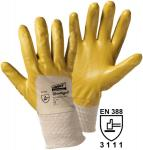 12 Paar Flex-Nitril Handschuhe , gelb Gr. 9