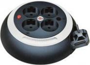 Comfort Line Kabelbox CL-S 4-fach, schwarz/weiß 3m H05VV-F 3G1,5