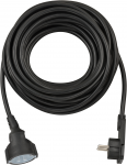 Brennenstuhl Kurzverlängerungsleitung mit Winkel-Flachstecker 10m H05VV-F3G1,5 schwarz