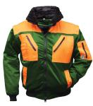 4-in1 Multifunktions-Pilotjacke grün/orange XXL