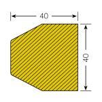 MORION-Prallschutz, Trapezform, Flächenschutz 40/40 mm, schwarz / gelb, selbstklebend, Länge: 1000 mm