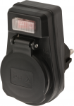 Brennenstuhl Steckdosenadapter EDS 10 IP44 mit Ein/Aus Schalter für den Außenbereich